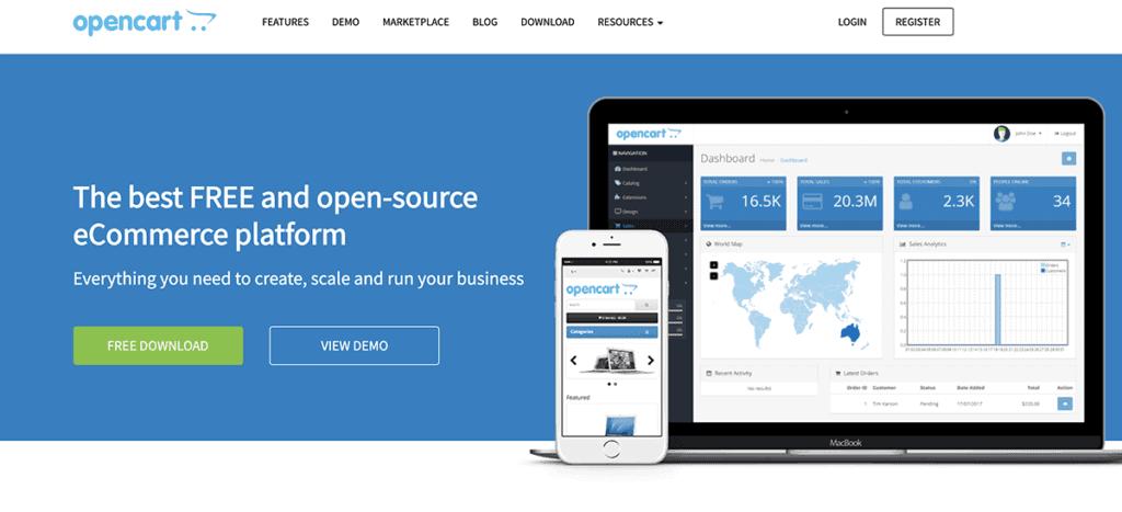 OpenCart ecommerce platform for WordPress 2020