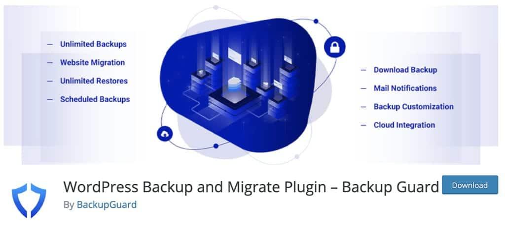 WordPress Backup and Migrate Plugin – Backup Guard