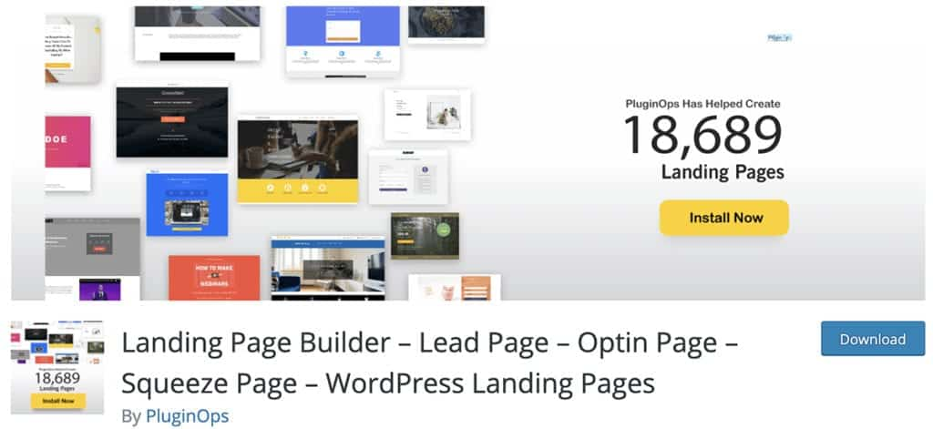 Landing Page Builder – Lead Page – Optin Page – Squeeze Page – WordPress Landing Pages