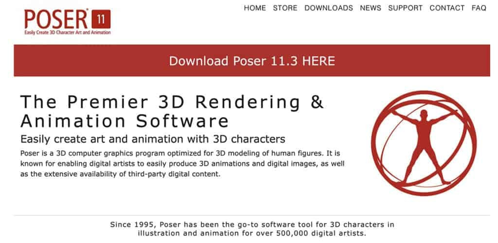 poser rendering and animation