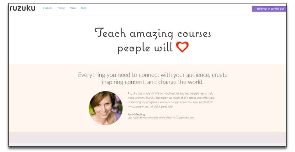 ruzuku learning management system review