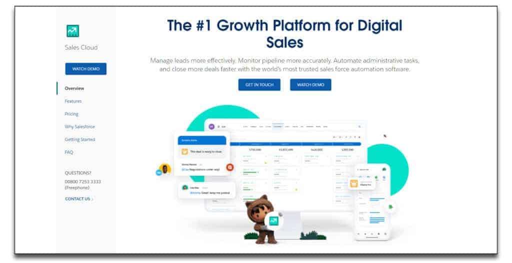 salesforce sales management software