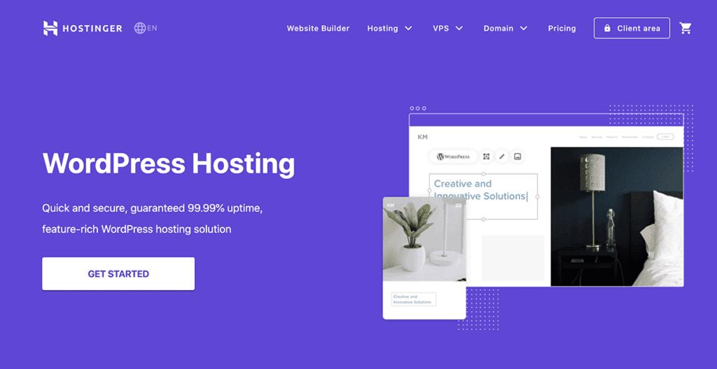 Hostinger user friendly hosting for Beginners