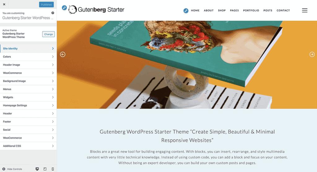 WordPress Gutenberg Customize Options
