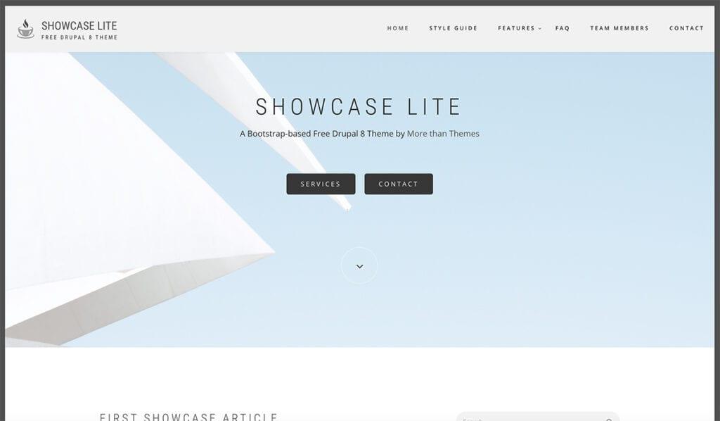 Showcase Lite Drupal Free theme
