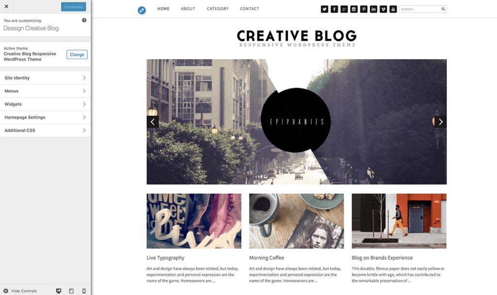 WordPress Customize Blog Theme