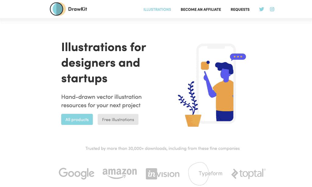 DrawKit Free Illustrations MIT License SVG