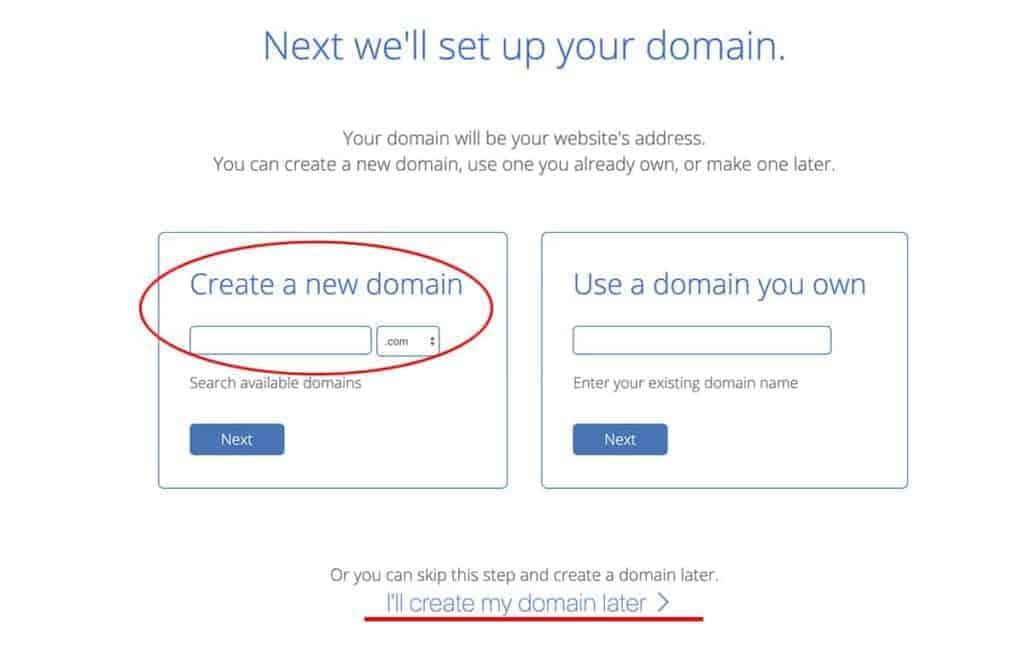 Bluehost choose blog domain name 2020