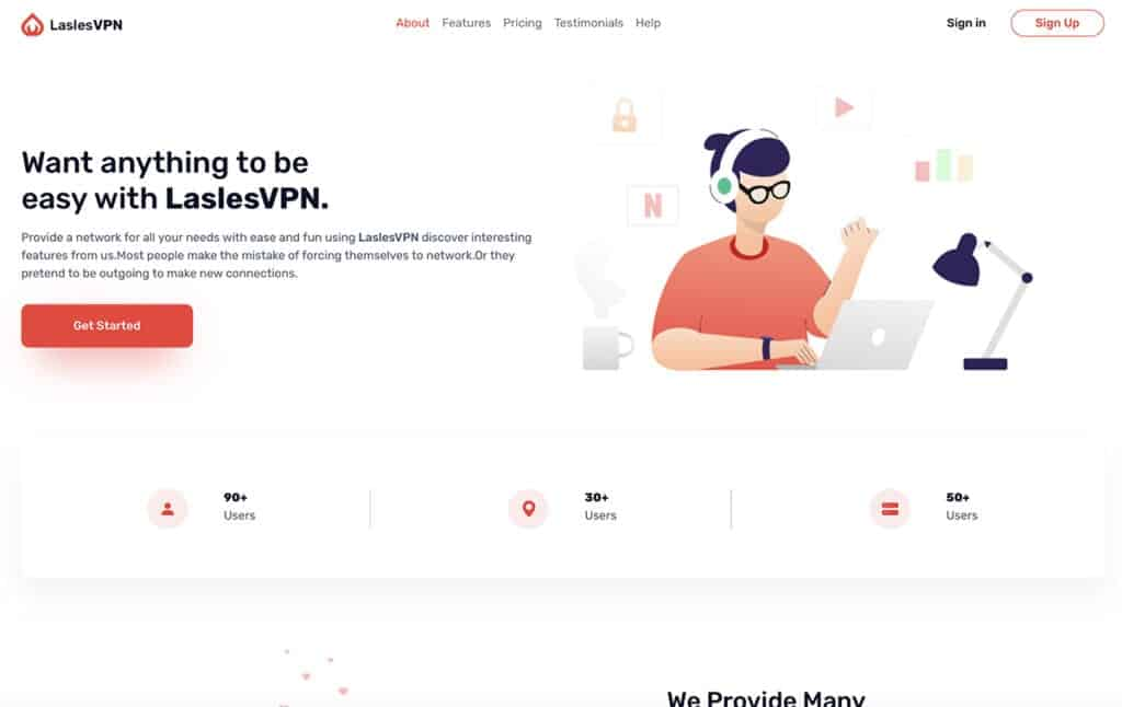 lasles vpn Free Bootstrap 5 Template