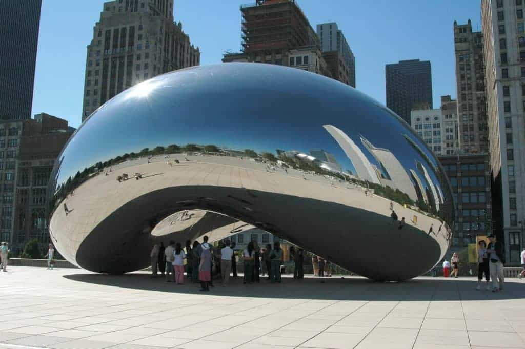 Cloud gate (Chicago) by Anish Kapoor