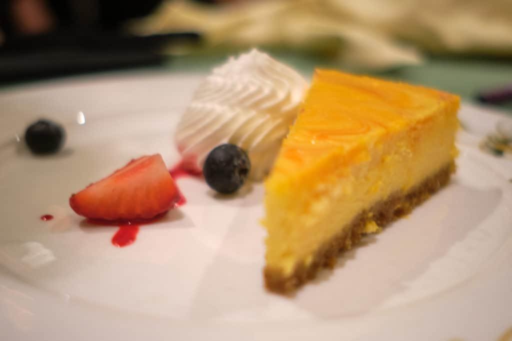 Mango Marble Cheesecake at Tiana's Place the Disney Wonder