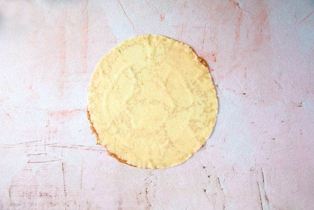An overhead shot of a crepe