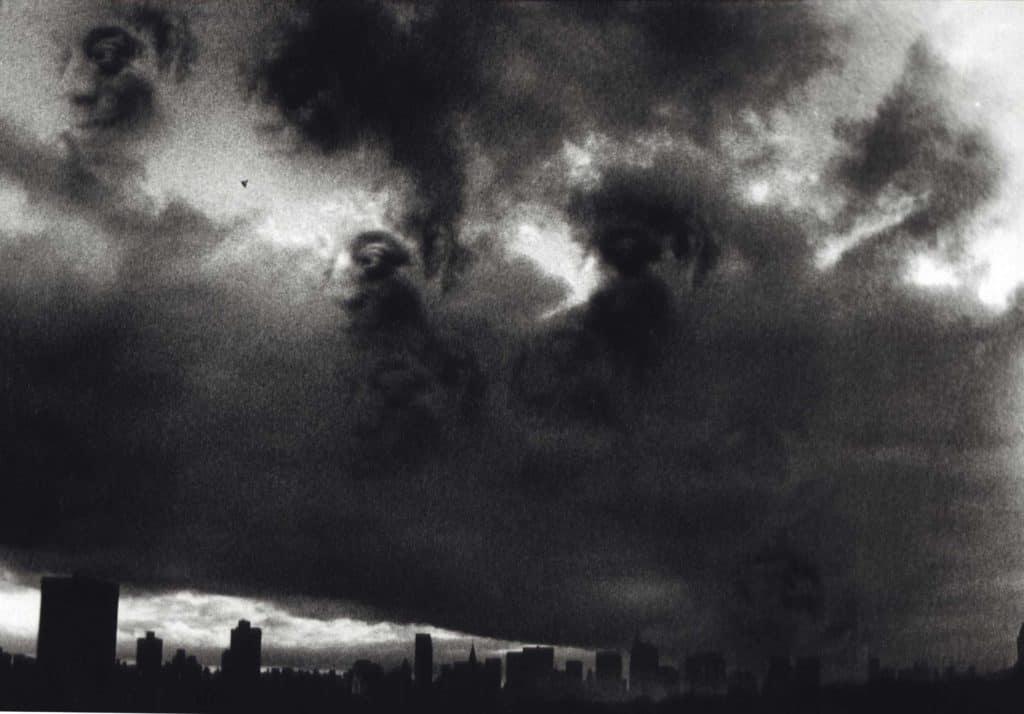 Ming Smith - James Baldwin in Setting Sun over Harlem - Harlem 1979