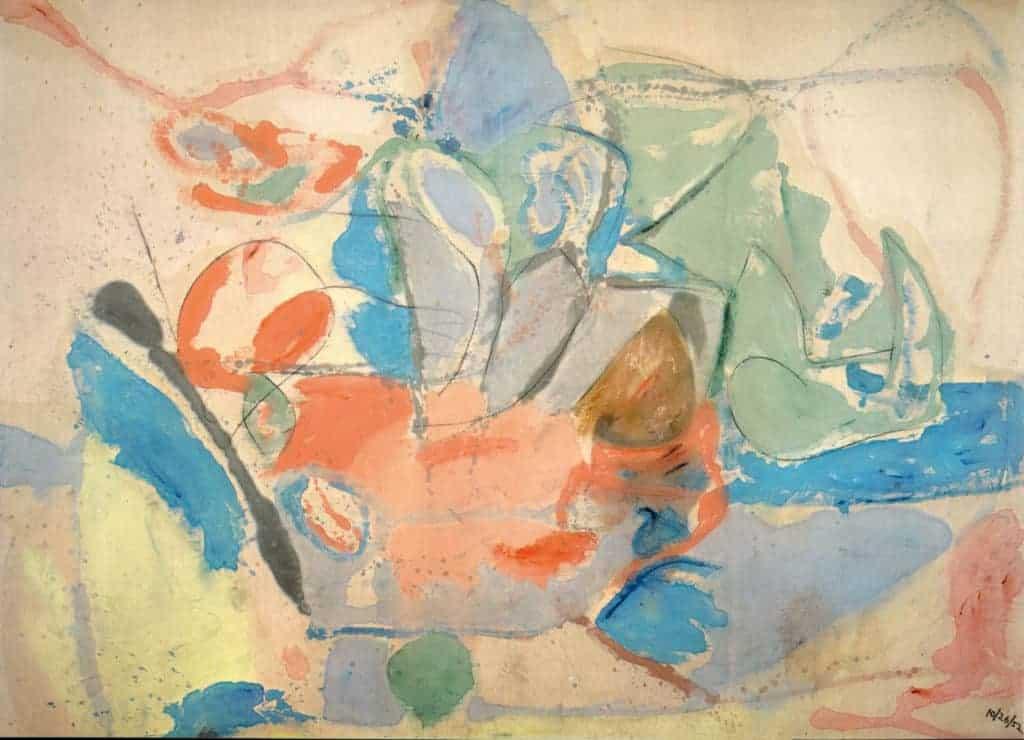 Helen Frankenthaler - Mountains and Sea - 1952