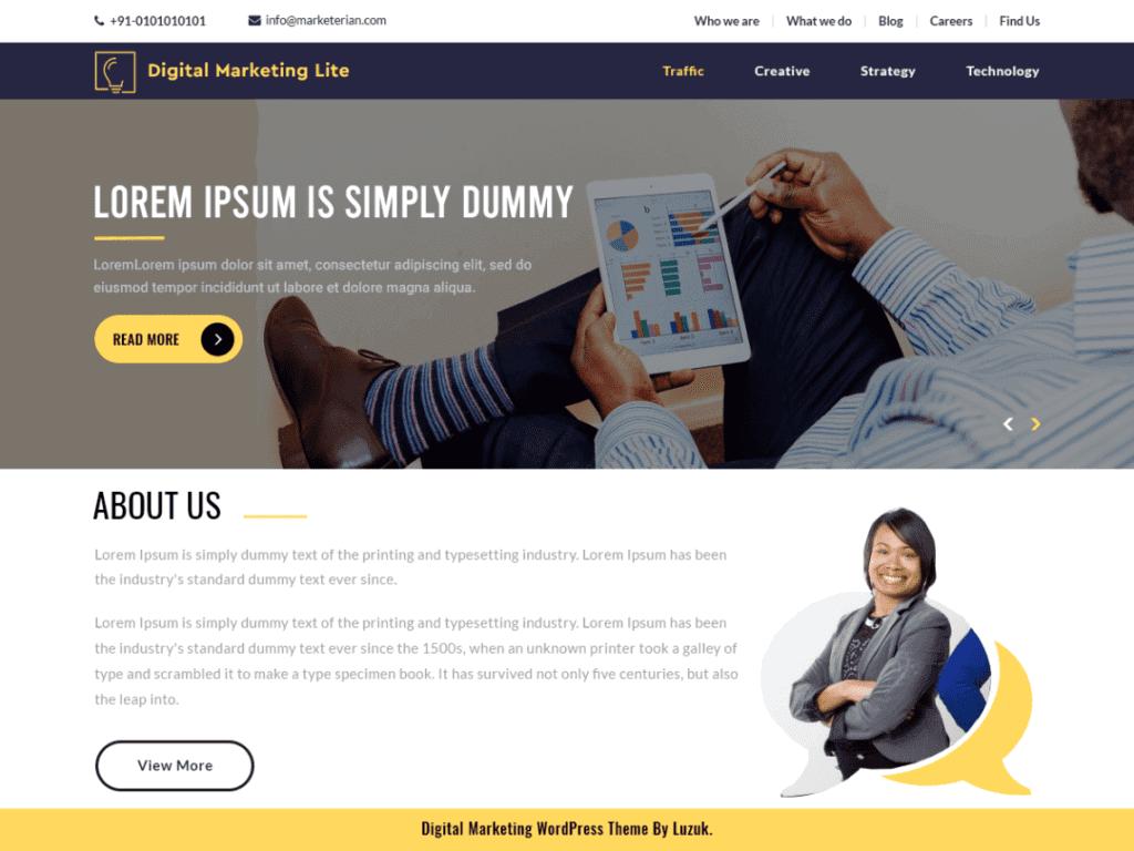 Digital Marketing Lite free WordPress theme