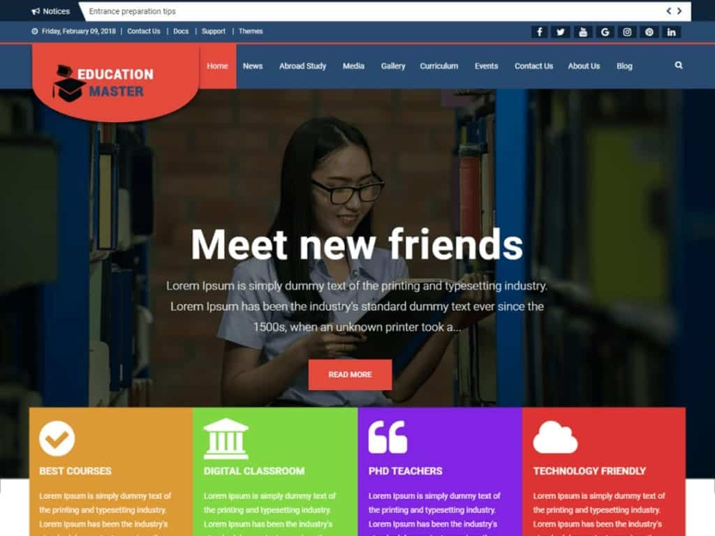 Education Master, an Education theme is a responsive WordPress theme for university, school, college or other educational institutions.