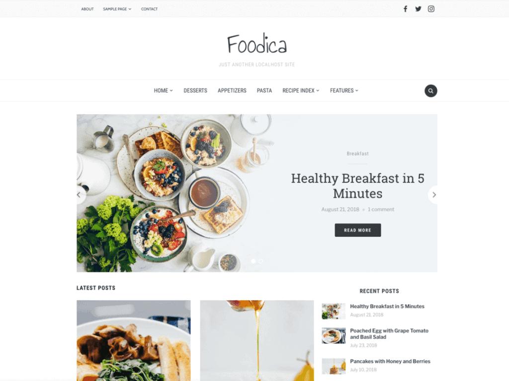 foodica theme free food