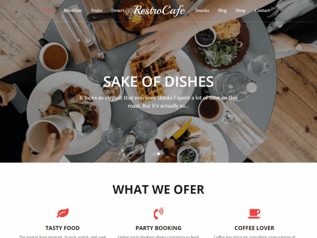 Best Free Restaurant WordPress Themes