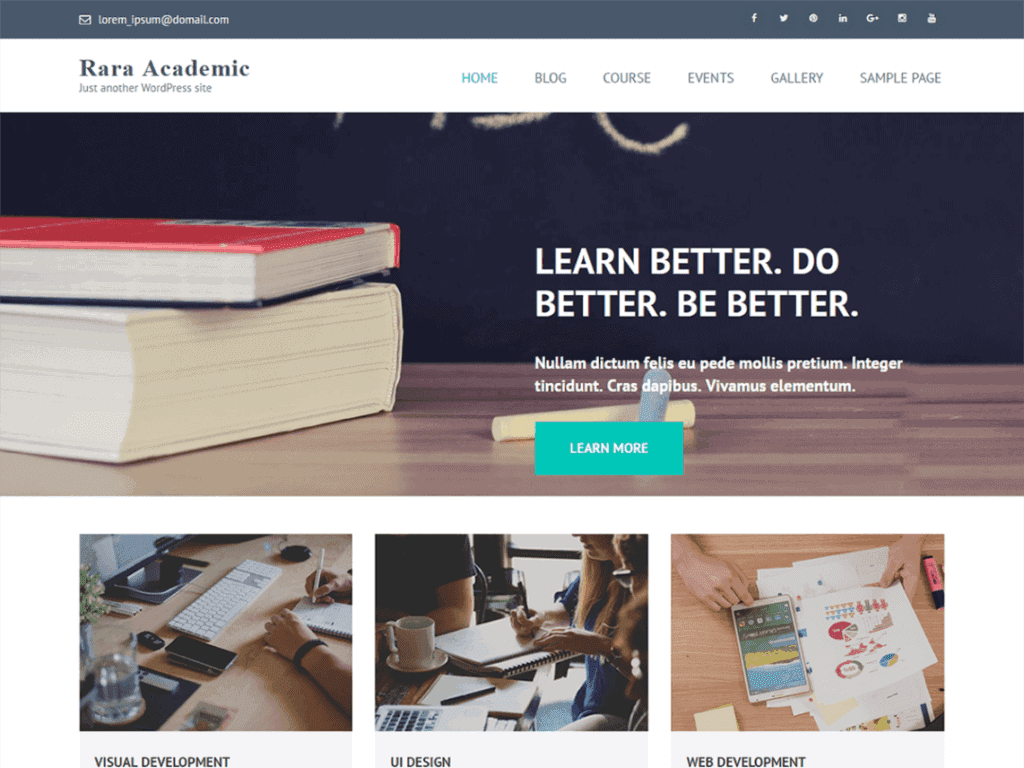 Rara Academic is a professionally designed WordPress theme which is best suited for Education Institution, Schools and Universities.