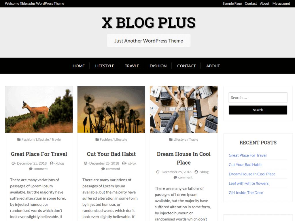 x blog plus