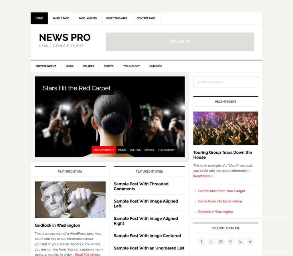 news pro wordpress theme
