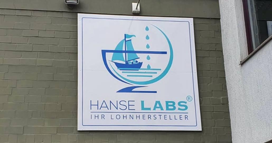 Hanse Labs Werbe*schild