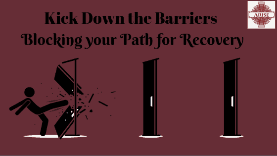 Blog post header image for roadblock to recovery post