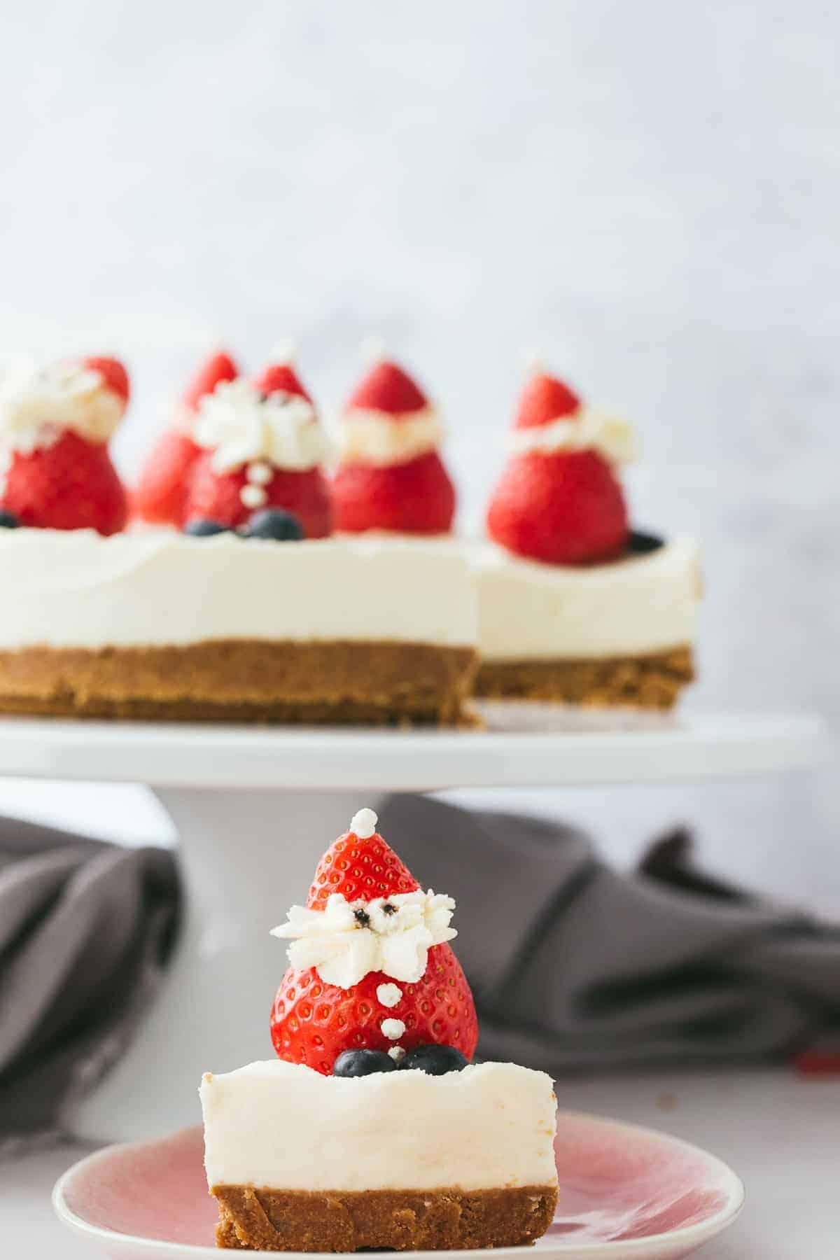 A Christmas Cheesecake.