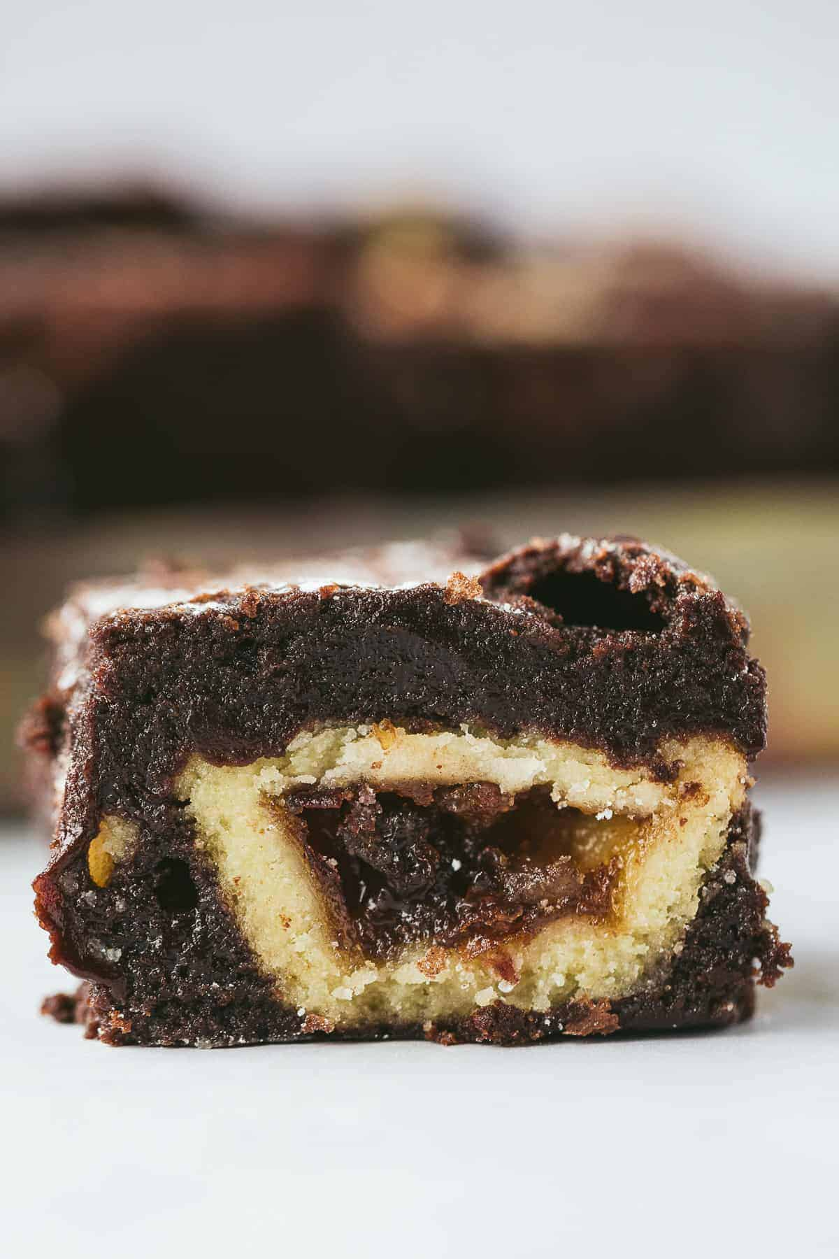 A chocolate fudge mince pie brownie.