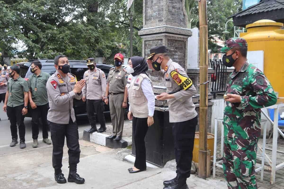 Kapolres Purwakarta, AKBP Ali Wardana, Bupati Anne Ratna Mustika, Dandim 0619 saat menerima kunjungan Kapolda Jabar, Irjen Ahmad Dofiri