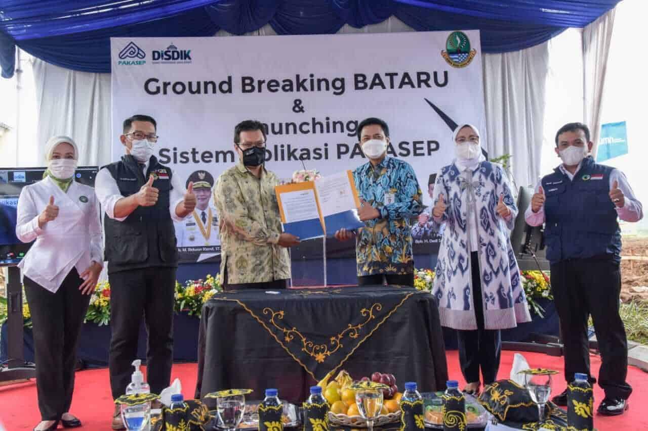 Launching program BATARU bersama kadisdik provinsi jabar, gubernur jabar dan bupati purwakarta