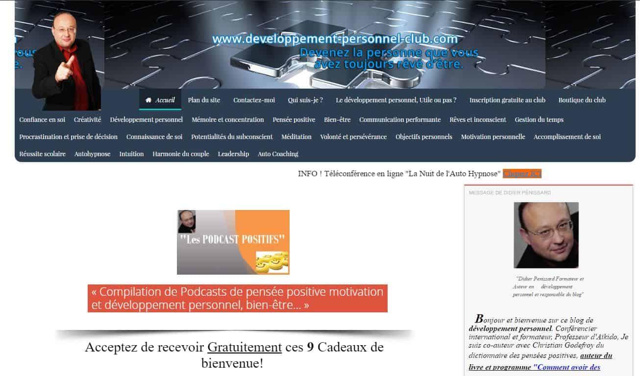 Blog de développement personnel club rejoignez les 30000 membre