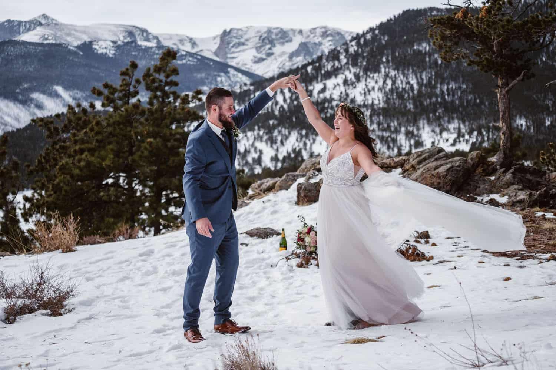 3m Curve Elopement Bride and Groom Dancing