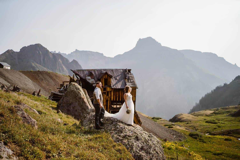 Bride and Groom Colorado Off-Roading Elopement
