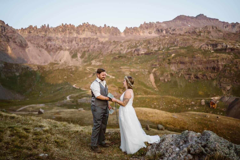 Vow Ceremony Colorado Off-Roading Elopement