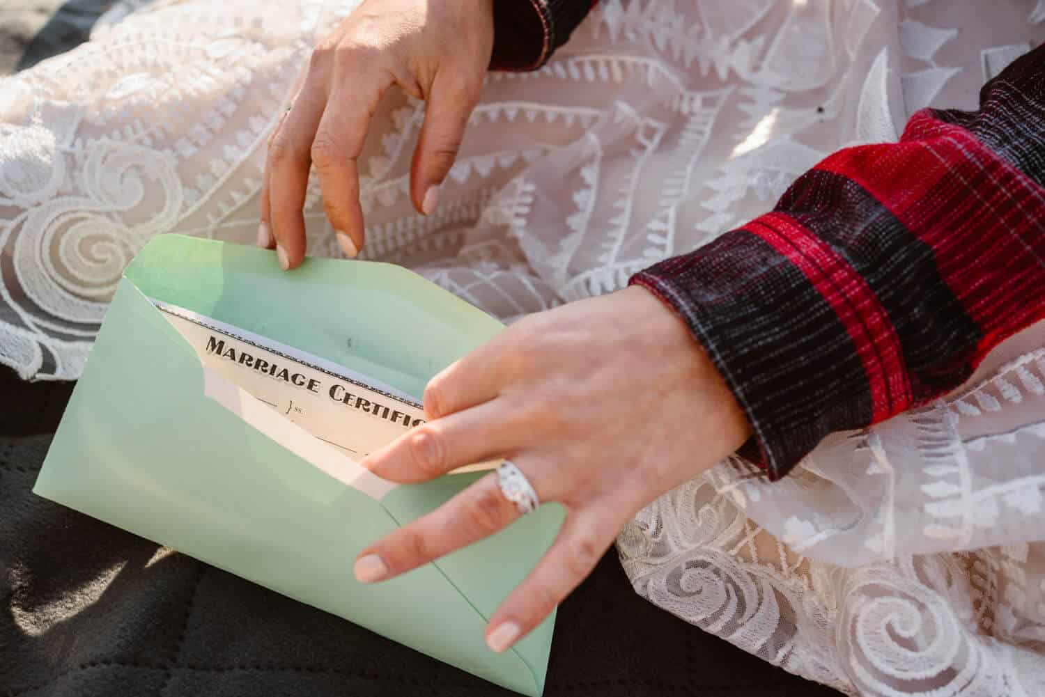 Marriage License What You Should Pack for Your Elopement