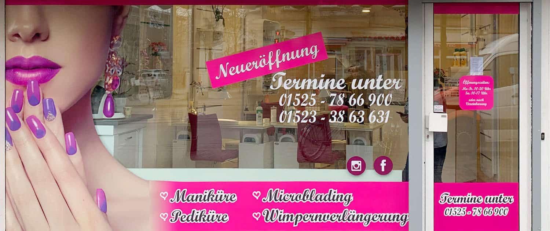 Digitaldruck Schaufenster Reklame Bremen