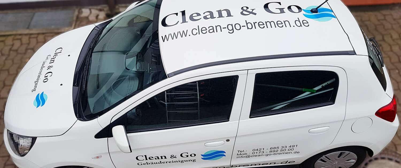 Referenz Arbeit KFZ Clean & Go Reklame Bremen