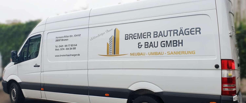 Referenz Arbeit KFZ Bremer Bauträger Reklame Bremen