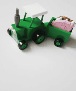 tractor ted met aanhanger