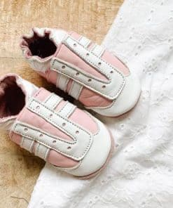 babyslofje jogger roze wit baby dutch