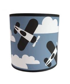 Wandlamp-Vliegtuigen-en-Wolken-jeans-blauw-ANNIdesign
