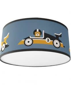 Plafondlamp Raceauto jeans blauw zwarte band ANNIdesign