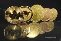Gold Goldmünzen, Vergleich (Foto: Goldreporter)