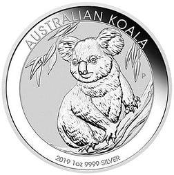 Silber, Silbermünze, Koala