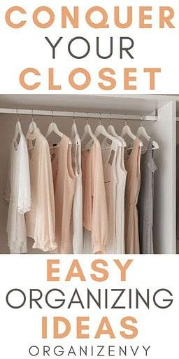 Easy Closet Organizing Tips