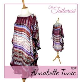 The Tailoress PDF Sewing Patterns - Annabelle Tunic PDF Sewing Pattern