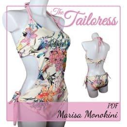 The Tailoress PDF Sewing Patterns - Marisa Monokini PDF Sewing Pattern