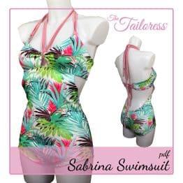 The Tailoress PDF Sewing Patterns - Sabrina Swimsuit PDF Sewing Pattern