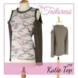 The Tailoress PDF Sewing Patterns - Katie Top PDF Sewing Pattern